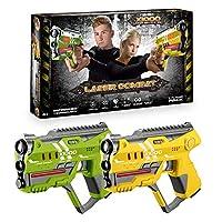ToyStar Laser Tag Combat X-1000, Multiplayer Infrared Gun Battle Game, Dual Pack 2 Pistol Battle Set, Epic 60m Shooting Range