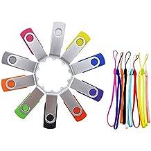 FEBNISCTE 10 piezas 2 GB USB 2.0 PenDrive Multicolor Almacenamiento Externo (Negro, Azul, Verde, Morado, Rojo, Blanco, Gris, Naranja, Amarillo, Rosa)