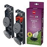 Hailo EasyClix Garden Size M, Wechsel-Fuß-Set für Hailo Haushaltsleitern, für stabilen Stand auf weichen Untergründen, einfacher Wechsel, 9948-101
