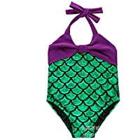 Junsi Lovely Mermaid Swimmable Swimming Princess Costume Kids Swimsuit Costume
