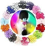 Haargummis mit Schleifen, 8,9cm, für Mädchen, mit elastischem Gummiband und gepunkteter Schleife
