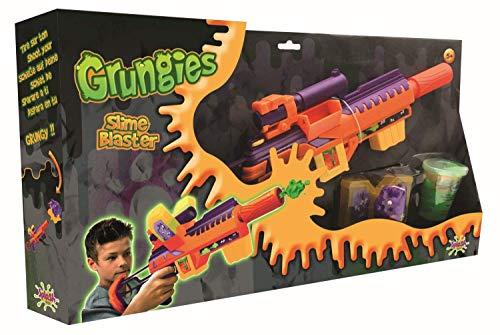 Splash Toys 56018i Grungies Slime Blaster, Schleimgewehr inklusive grünem Slime und Monsterfigur als Ziel für Schleimschüsse, bunt -
