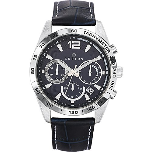 Certus 613166 - Reloj de pulsera hombre, piel, color azul