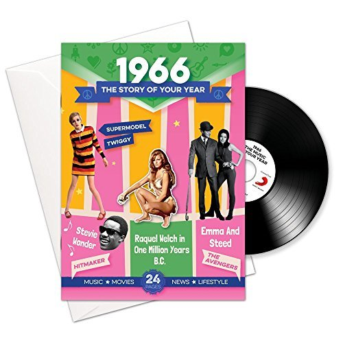 1966 Aniversario o Regalos de Cumpleaños - 1966 Tarjetas 4-en-1 y Regalo - Historia de mi Año, CD, Descarga de Música