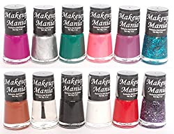 Makeup Mania Exclusive Nail Polish Set of 12 Pcs (Multicolor Set  81)
