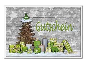 10 st ck weihnachts geschenk kunden einkaufs gutschein set. Black Bedroom Furniture Sets. Home Design Ideas