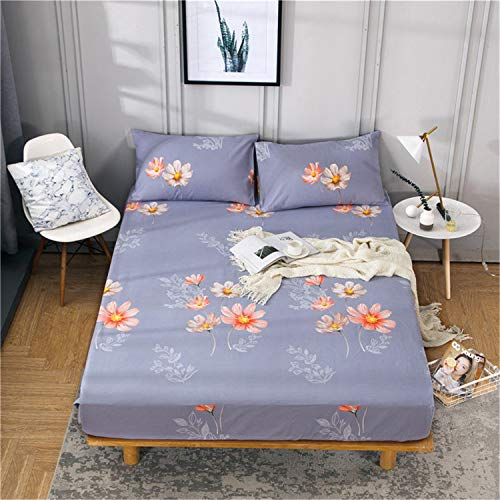 Comeyang Protección del colchón, Lavado a máquina repetible, Transpirable Impermeable Prueba de Moho,Cubierta de colchón de Tela Gruesa de algodón 5 120 * 200 cm