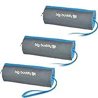 Original Big Buddy 3x FutterDummy Entraînement apportier factice factice Sac Sacs Friandises pour chien Doublure design bleu
