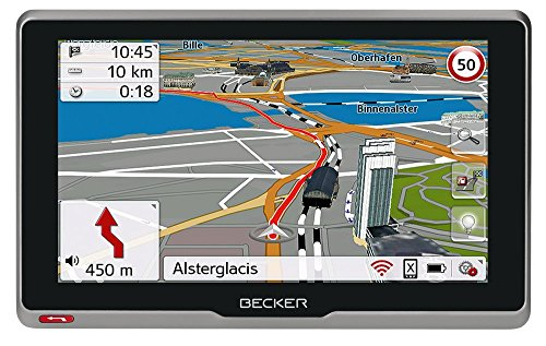 Becker professional.6sl EU Navigationsgerät (15,8 cm (6,2 Zoll) kapazitives Echtglasdisplay, 46 Länder, lebenslange Kartenupdates, Live Verkehr, Blitzerwarner, Bluetooth, Sprachsteuerung)