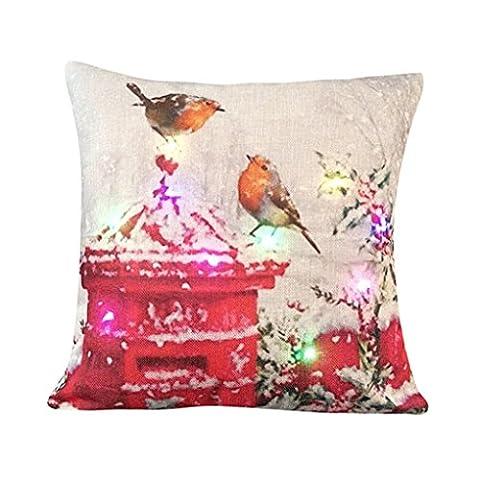 Kissenbezug Vovotrade Einzigartige Led Beleuchtung Weihnachts Zuhause Sofa Dekor Kissenbezug (A) (Solid Gold Taschenuhr)
