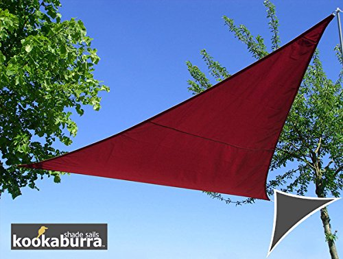 Kookaburra Voile d'Ombrage Imperméable 6,0m × 4,2m Triangle Rectangle Bordeaux