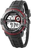 Xonix Herren Armbanduhr Stoppuhr mit 100 Zwischenzeiten WR100m + Box, NZX1BB5/6