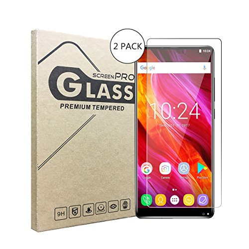 2 Stück Panzerglasfolie Tempered Glass Hartglas Schutzfolie für OUKITEL MIX 2,0.3mm clear 2.5D 9H Hardness aus gehärtetem Glas Ultra Clear Panzerglas Transparent Folie für OUKITEL MIX 2
