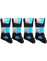 Pour homme chaussettes noires non élastiques 100% coton EU 39.5-44.5 (lot de 12 paires)