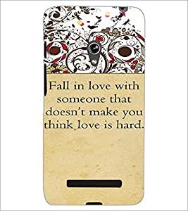PrintDhaba Quote D-4714 Back Case Cover for ASUS ZENFONE 5 A501CG (Multi-Coloured)