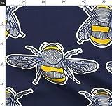 Hummel, Biene, Insekt, Marineblau, Gelb Stoffe -