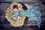 iEFiEL Babytuch Gaze Wickeltuch Schlafsack Decke Häkel Baby Kostüm Fotoshooting Prop Fotografie (Türkis)