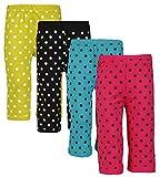 #8: Sinimini Girls Colorful Dot Print Capri ( Pack Of 4 )