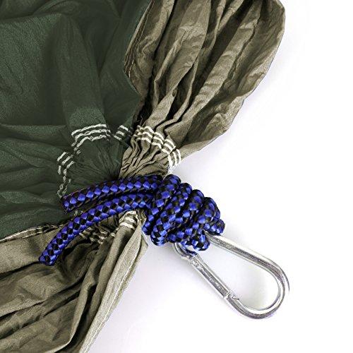 Hängematte Camping Hammock Single/Double Parachute, leicht und tragbar, mit extra Schlafaugenmaske Augenbinde Blindfold - 4