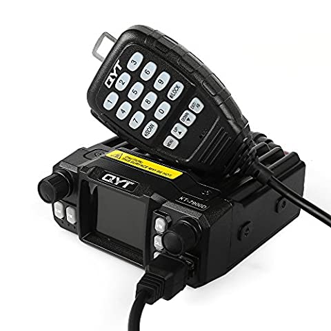 QYT KT-7900D 25W Quad-Band Quad-standby Mini Car Radio Funkgerät, 144/220/350/440MHZ Mobile Transceiver mit Mikrofon, Amateur Ham Two Way Radio