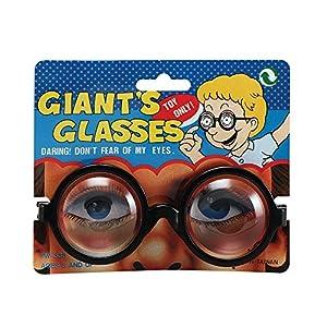 GIANT GLASSES NOVELTY SCHOOL GEEK FANCY DRESS (accesorio de disfraz)