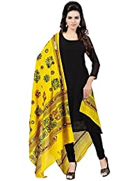 ooltah chashma Women's Dupatta(DUPT-157_Yellow_Free Size)