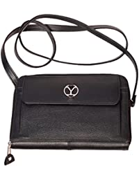 Ystore Genuine Leather Sling Bag - Black
