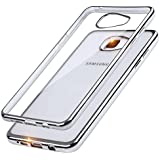 Chrome Case Étui en silicone TPU pour téléphone portable Samsung Galaxy A5A510(2016) Argent métallisé Transparent Back Case avec Bumper bord coloré Coque CRYSTAL Boîtier Sparkles