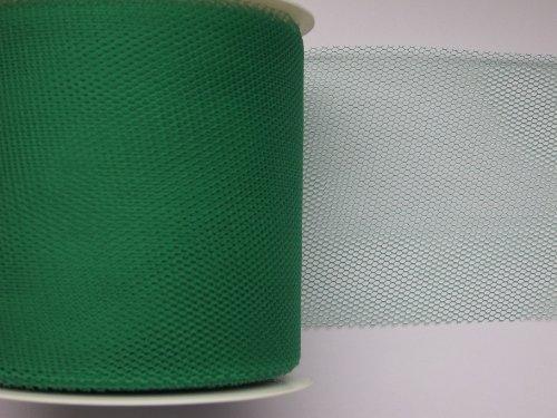 59 Dunkelgrün (Tüll-Band von GOLDINA 5 cm, 50 mm / 50 m in grün DUNKELGRÜN -59)