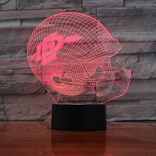 WEREWTR 3D Nachtlichter Aztec 7 Farbwechsel Nachtlicht Baby Touch Schalter Farbige Lichter LED USB Schreibtischlampe (Aztec Lampe)
