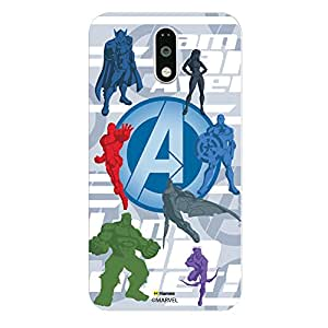 Hamee Marvel Redmi Note 3 Case Cover Avengers With Logo Silhouette Case