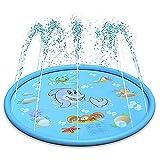 TongNS2 Aufblasbare Wasserspielmatte, Splash Spielmatte, Outdoor Garten Wasserspielzeug Sprinkle Spaß Wassermatte Familienaktivitäten Für Baby, Kinder, Hund Und Haustiere