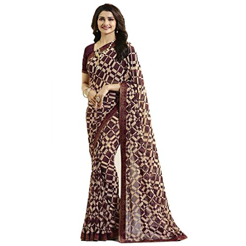Vedant Vastram Women's Bollywood Designer Fashionable Georgette Printed Saree With Blouse Piece...