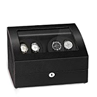 JQUEEN 4 Automatic Watch Winder and 6 Storage Case
