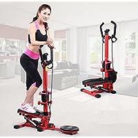 DMMSS Hydraulic Handrail Stepper Machine Home Mute Mini Multi-Functional Slimming Fitness Equipment Slimming Machine Pedal (90 * 48 * 118Cm)