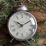 CWLLWC tischuhr standuhr,Kaminuhr Alte Wohnzimmer Eisen Retro-Uhr Ornamente Heimtextilien Produkte 14,5 * 13 cm