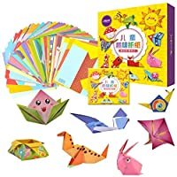 Mumoo Bear Colorful Kids Origami Kit 118 Double Sided Vivid Origami Papers 54 Origami Projects Origami for Kids Adults Beginners Trainning and School Craft Lessons