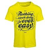 lepni.me T-Shirt Femme Citations de Motivation pour la Vie - Inspiration Vintage (Large Jaune Multicolore)
