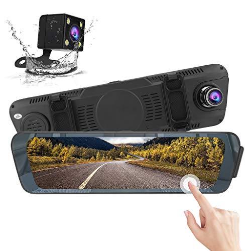 Spiegel 10 Zoll voll HD Bildschirm Auto Strich Kamera Strom Medien Vorderseite Rückseite Dual Linse Rückspiegel Fahren Rekorder - Rückfahrleuchte Linse