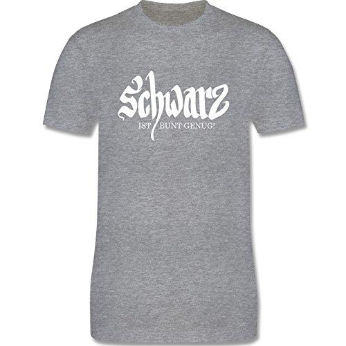 Nerds & Geeks - Schwarz ist bunt genug - Herren Premium T-Shirt Grau Meliert