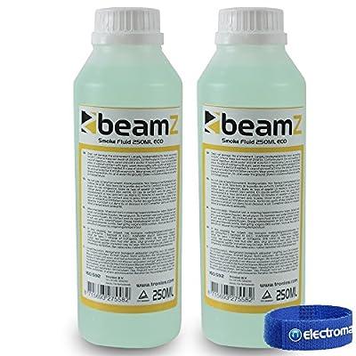 2x Beamz ECO 250ml Green Coloured Fluid White Smoke Fog Machine Liquid 500ml