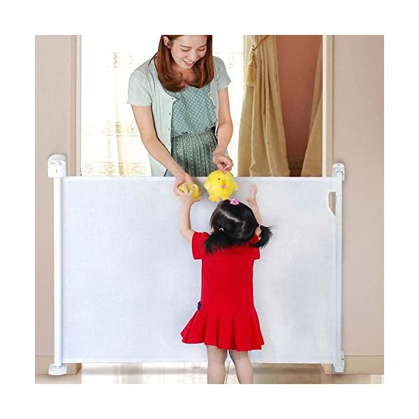 Safetots Advanced Retractable Safety Gate White 0cm - 120cm Safetots Unique, advanced locking system: No need to fully retract each time you walk through gate Screw fitting retractable gate. Retracts fully out of the way when not in use Easy installation (Fittings and Installation Template included) 2