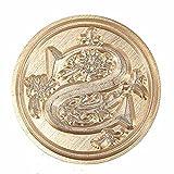 Demarkt Siegelstempel Vintage-Stil Wachs Siegelstempel Siegel Set A-Z Dekorativer Siegel Petschaft Holzgriff Brief 26 Buchstaben (S)