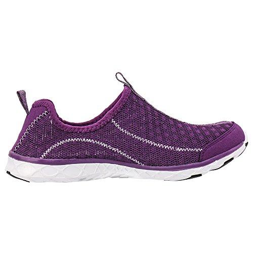 Aleader Damen Wasser-Schuhe Netzstoff Schlupfschuh Purple 8521a