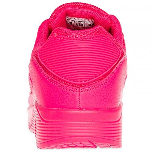 CASPAR SSN005 klassische Damen Sneaker Neon Pink