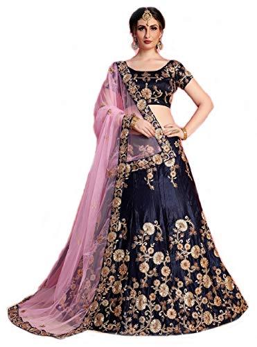 MRS WOMEN Cotton Silk Lehenga Choli (Xiz_Beige_Free Size)