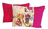 TryPinky® 2 Kissenhüllen Set Babykissen 30 X 40 cm Prinzessin Pink Punkte Dots Kissenbezug für Kissen 100% Baumwolle BW Kinderzierkissen Mädchen