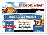 Geburtstagseinladungskarten für Erwachsene mit Spruch, lustig cool für Männer und Frauen, 30 Karten, 17 x 12 cm groß