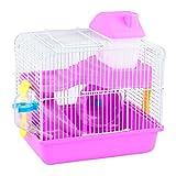 Pet Online Käfig Hamster Luxus Doppelzimmer Schloss hamster kleines Haus mit Spielzeug, Rosa