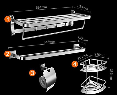 KIEYY Support von Binde aus Edelstahl 304 Servietten von bains Regalen der Raum bains keine Sanitärtechnik.,D6 - respect for 4 Stück